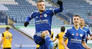 Pemain Leicester City, Jamie Vardy.