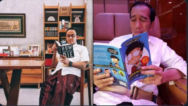 Beda Bacaan Jokowi dan Anies.