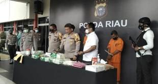 Pers release penangkapan kurir sabu seberat 20 kg