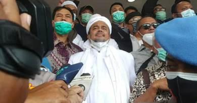 Habib Rizieq Shihab tiba di Polda Metro Jaya