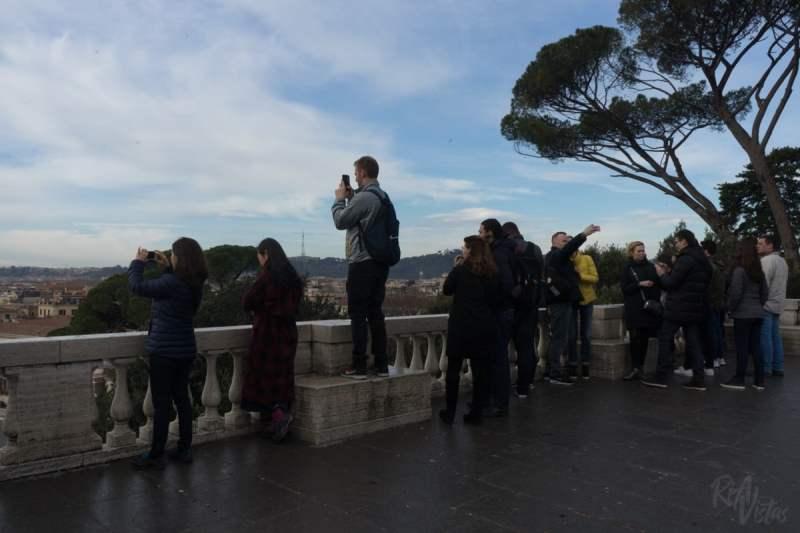 On Pincio Terrace
