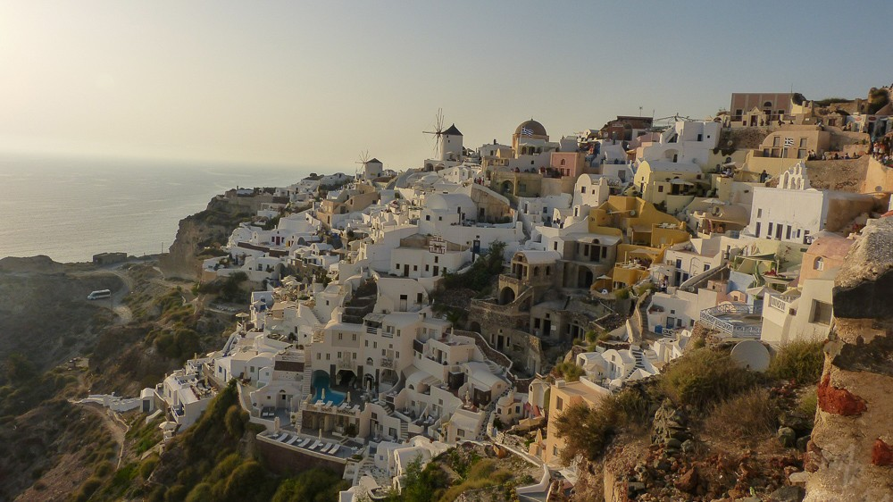 View from Oia - just before sunset
