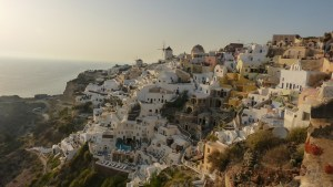 View from Oia - solo travel