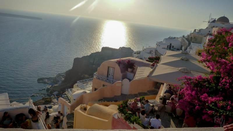 Ready for sunset - Santorini