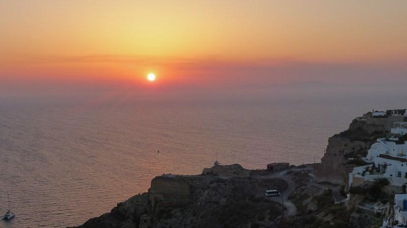 Sunset in Oia, Santorini - Greece