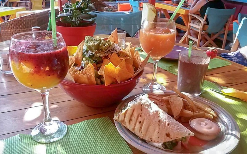 The food at Tranquilo - Perissa Beach, Santorini