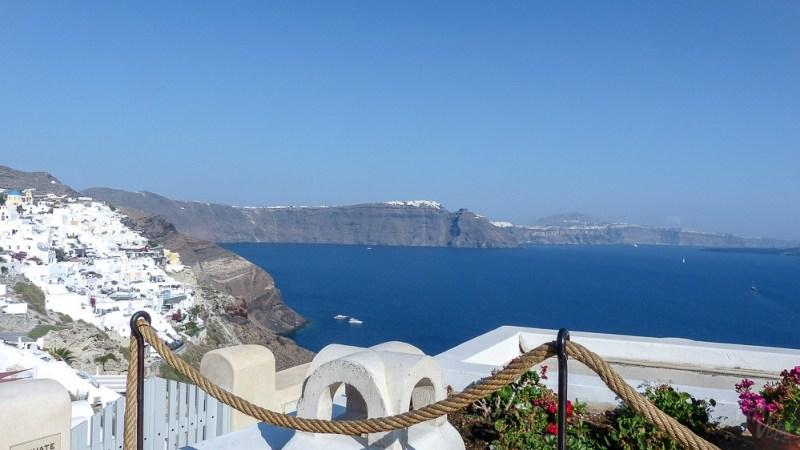 View from Oia - Santorini, Greece