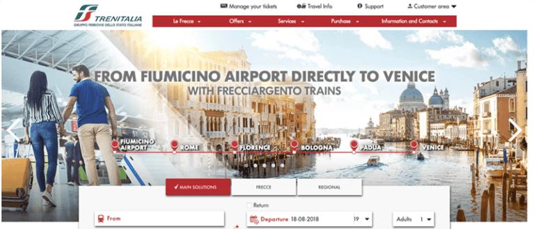 Trenitalia website