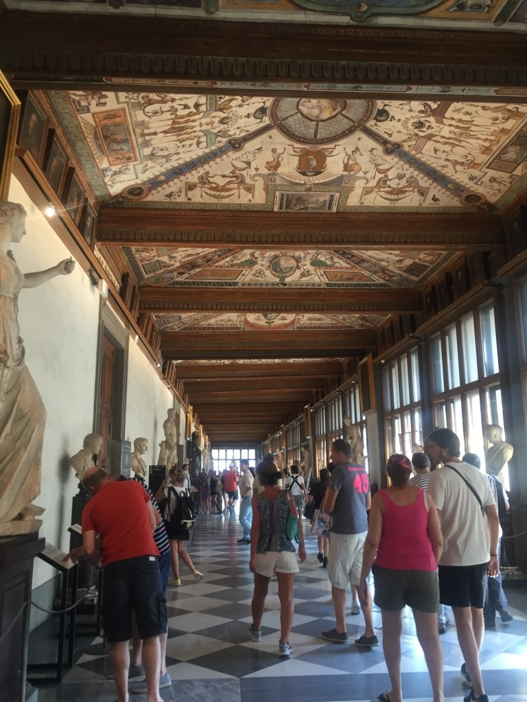 The start of the Uffizi Gallery