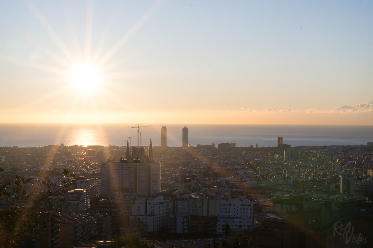 Sunrise at Park Carmel Barcelona
