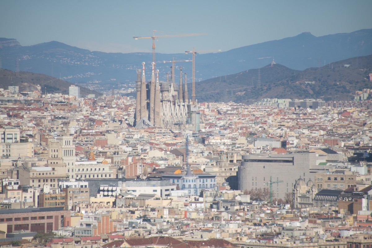 View of Sagrada Familia from Montjuïc Cable Car