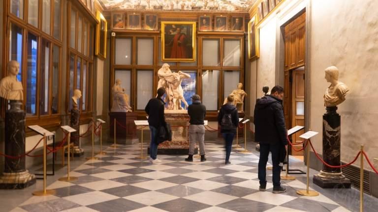 Inside Uffizi Gallery - Florence