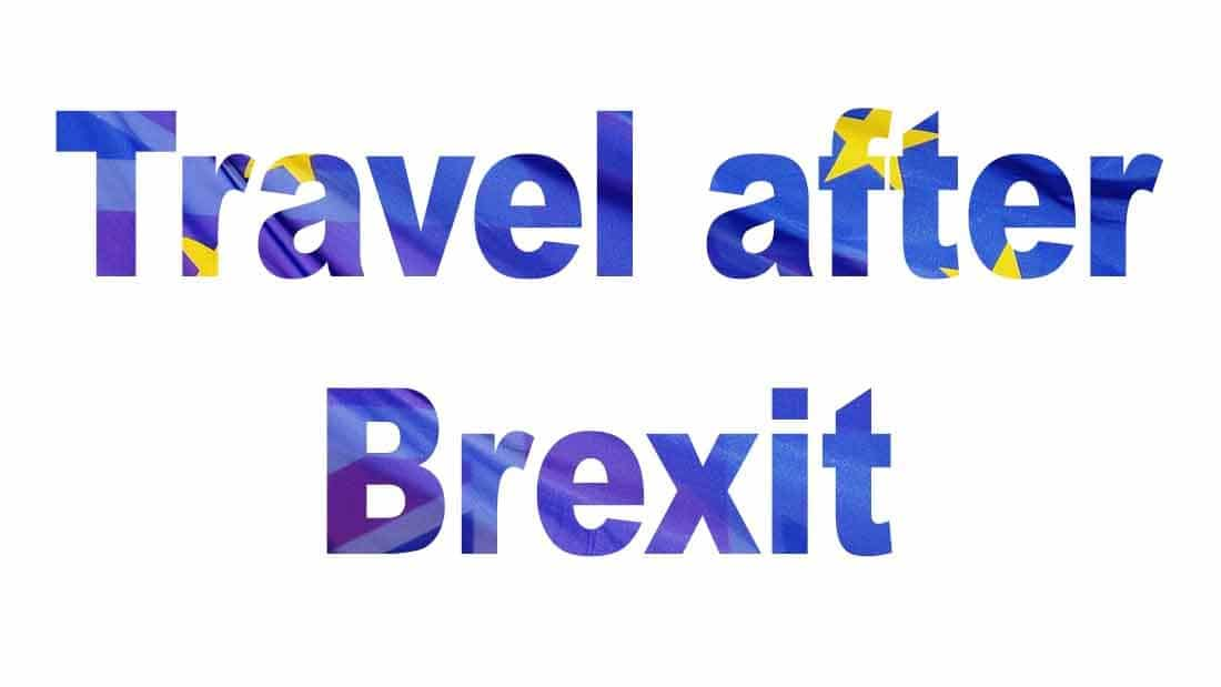 Travel after Brexit post