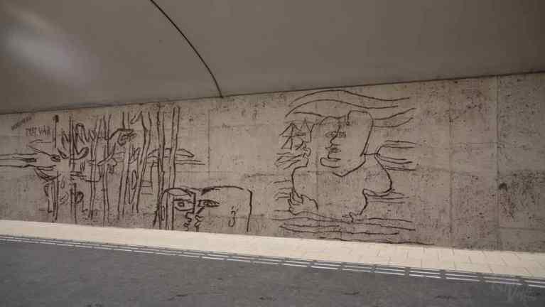 Östermalmstorg station artworks