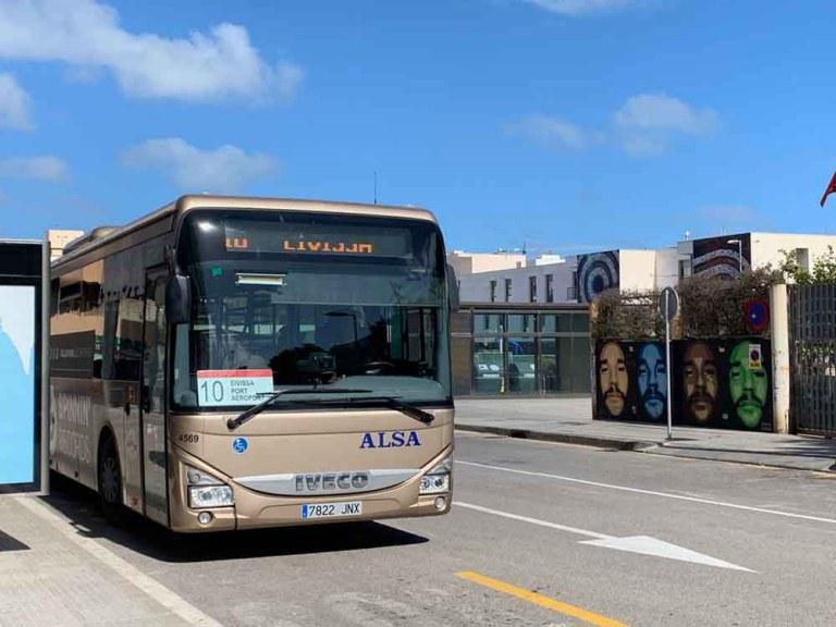Eivissa airport bus - Formentera