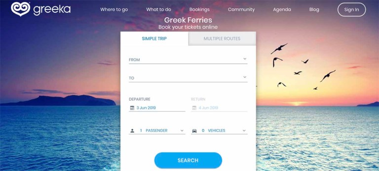 Greeka ferry booking