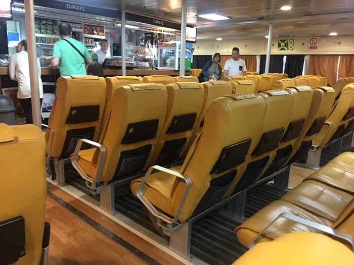 Inside a Greek ferry