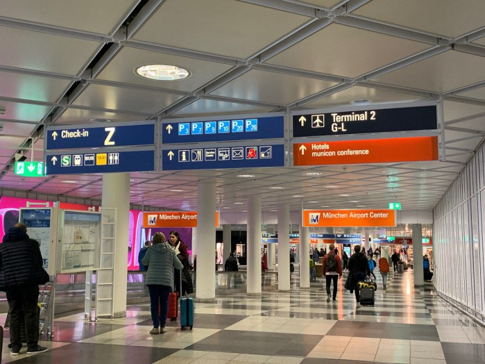 Inside Munich Airport