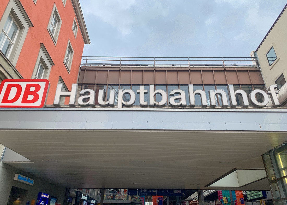 Outside Munich Hauptbahnhof