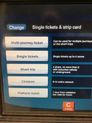 Travel Ticket machine Munich
