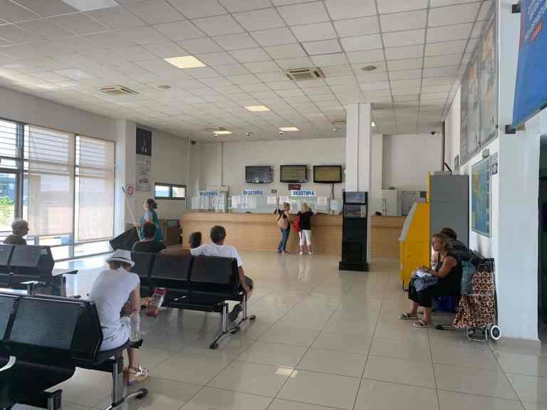 Inside KTEL Halkidiki bus station