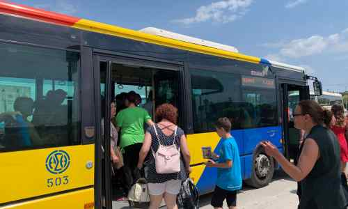 How to get from Thessaloniki to KTEL Halkidiki for Kassandra, Sithonia or Ouranoupoli