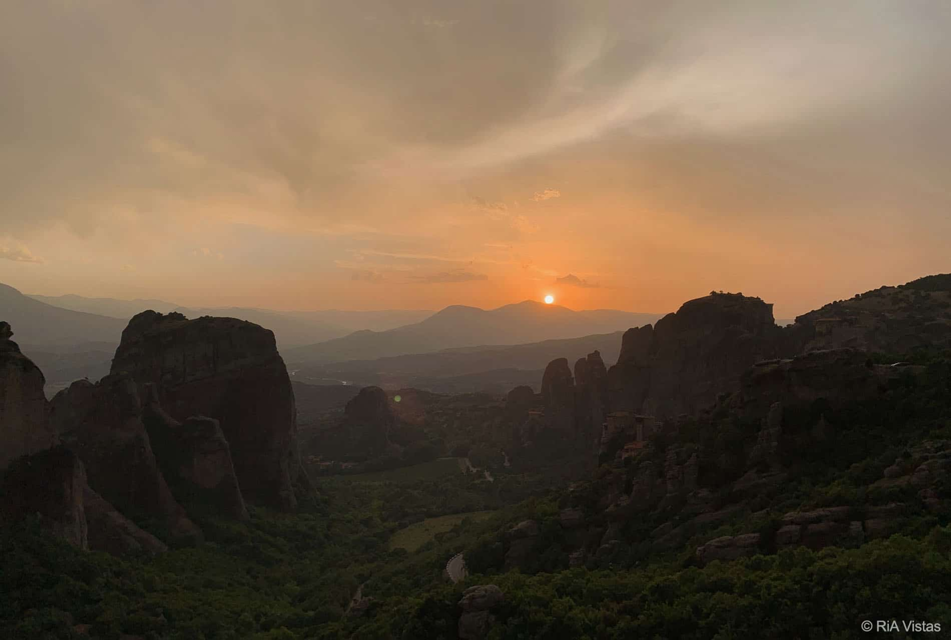 Sunset in Meteora- Kalabaka