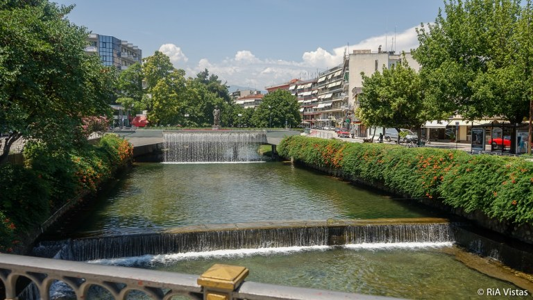 Trikala town and Lithaios river