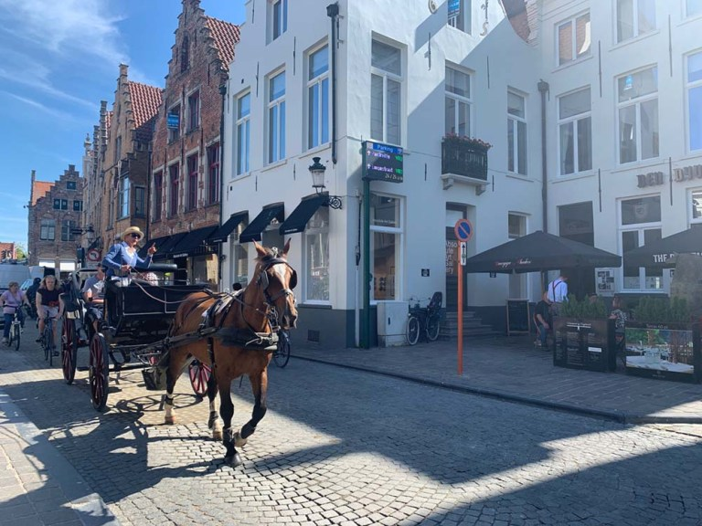 Another horse and cart in Bruges