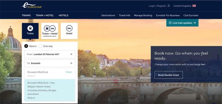 Eurostar - booking tickets for Brussels_Ria Vistas