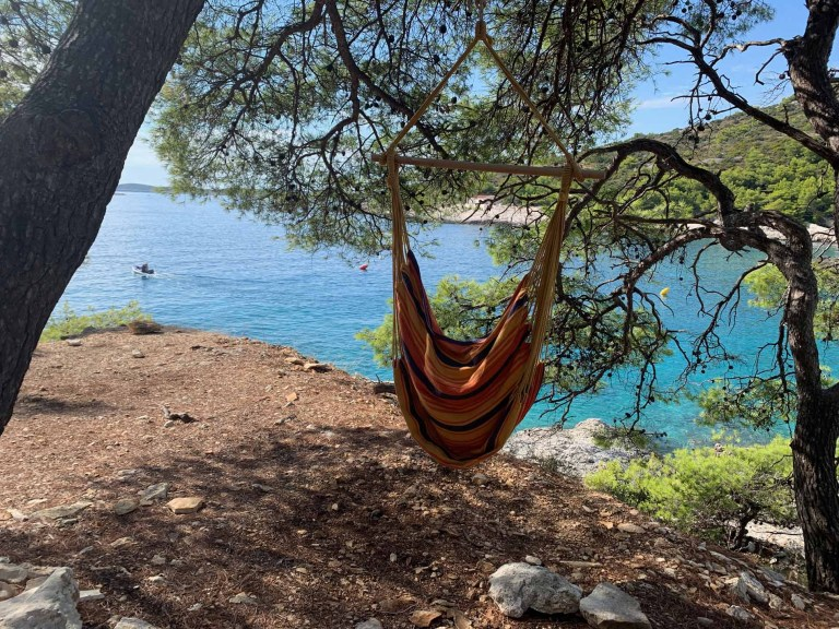 Hammock at Robinson Beach - solo traveller