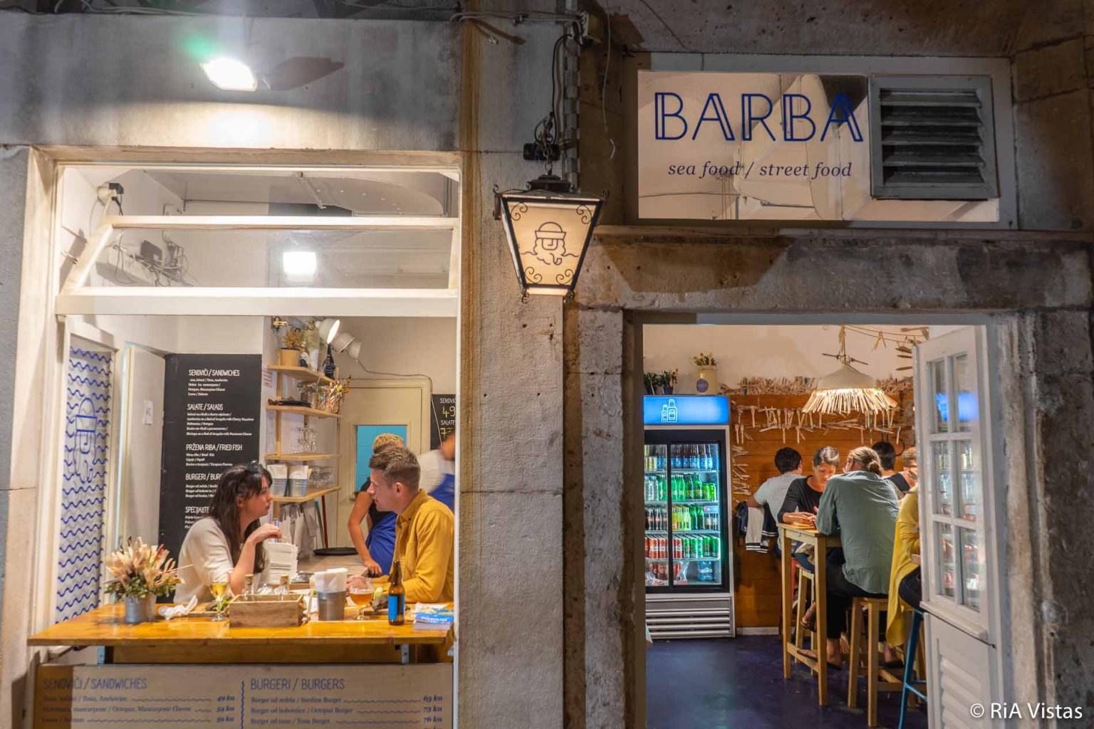 Outside Barba Street Food - Dubrovnik