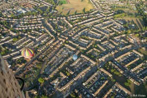 Over the city of Bristol -Baileys Balloons