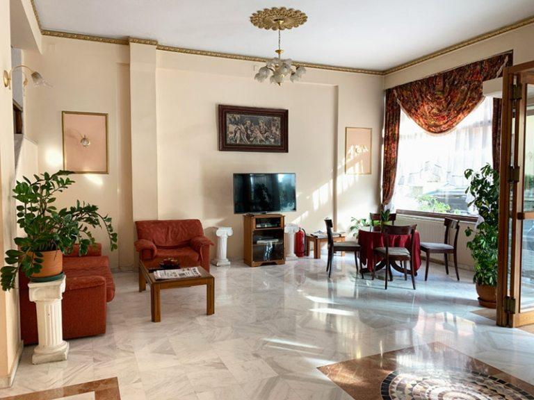 Reception area at Alexiou Hotel