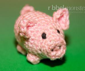 Amigurumi - kleines Schwein häkeln - Anleitung - Glücksschwein