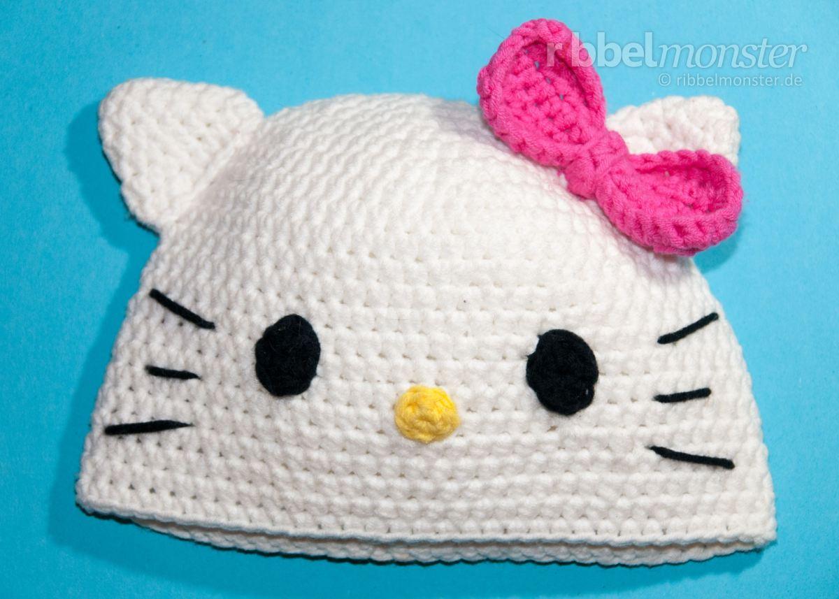 """Mütze häkeln - Katze """"Kitty"""" Mütze"""