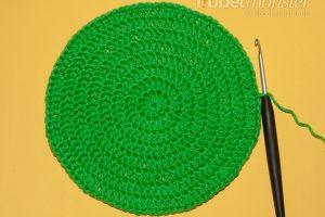 Mütze häkeln - Beanie mit ganzen Stäbchen - Anleitung
