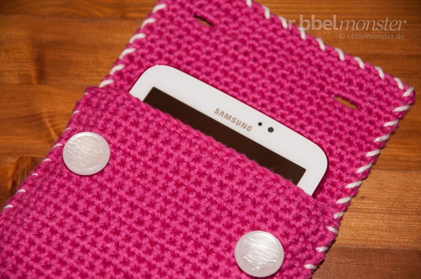 Häkelanleitung - Tablet, E-Reader Hülle häkeln