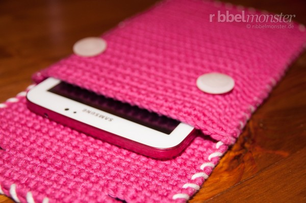 Häkelanleitung - Tablet, E-Reader Tasche häkeln