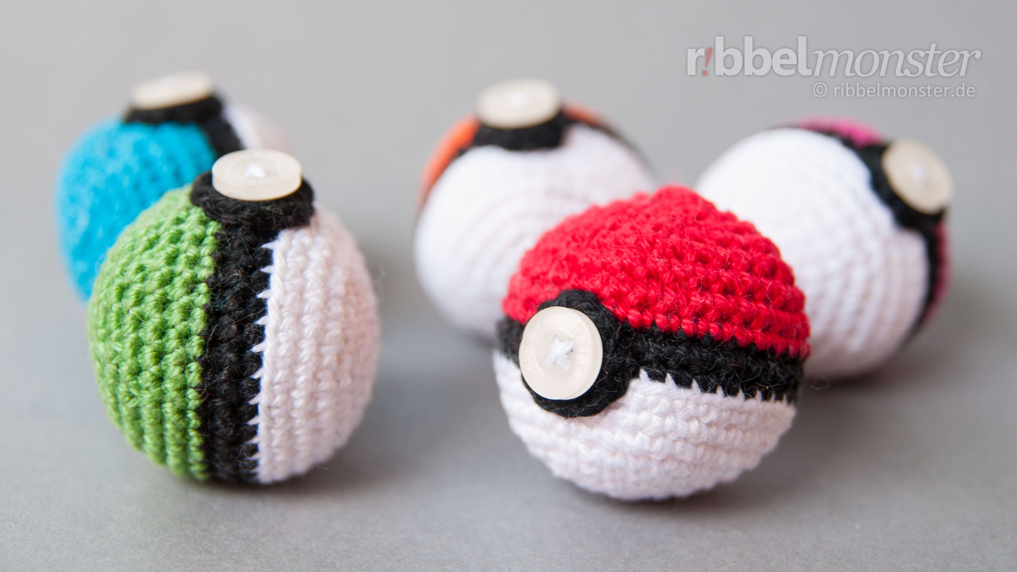 Amigurumi Pokéball Häkeln Pokémon Ball Kostenlose