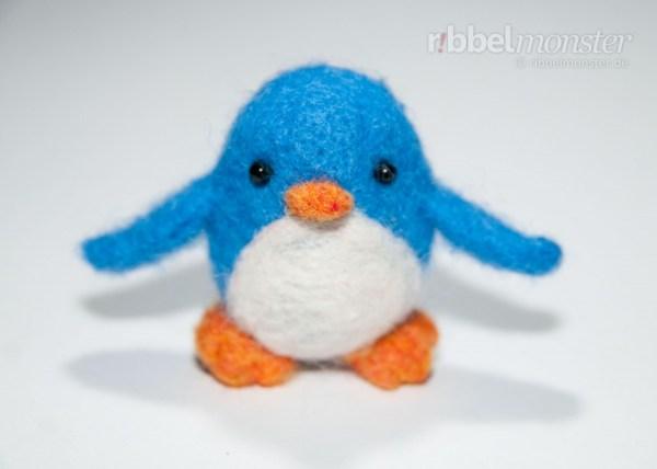 Nadelfilzen Anleitung - Pinguin filzen - Pauly