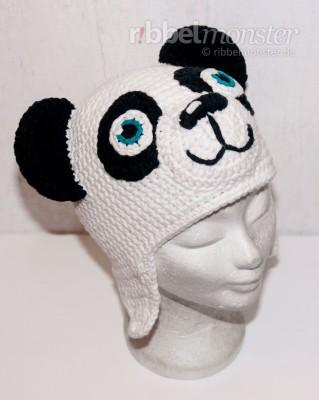 Häkelanleitung Panda Mütze häkeln Paddy