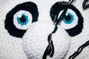 kostenlose Anleitung Panda Mütze Häkelanleitung