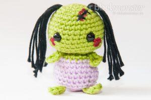 Amigurumi - Minimee Zombie häkeln - Ouka - Anleitung - kostenlose Häkelanleitung