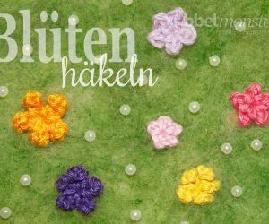 Blumen häkeln Blüten häkeln Anleitung Häkelanleitung