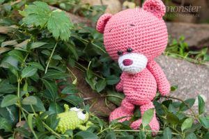 Amigurumi Anleitung - Teddy häkeln - Pina - Bär - Kuscheltier