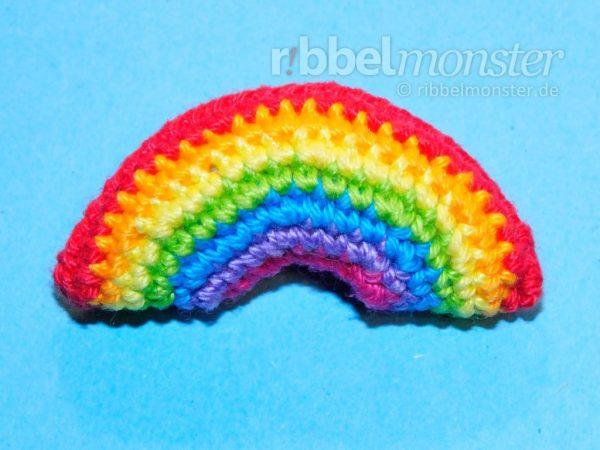 Amigurumi - winzigen Regenbogen häkeln - Anleitung - Häkelanleitung