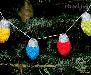 Amigurumi - Kleinste Weihnachtslichter häkeln - kostenlose Häkelanleitung - gratis Anleitung