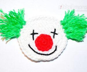 Aufnäher - kleinen Clown häkeln - Beppo - kostenlose Häkelanleitung - gratis Anleitung