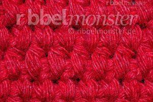 Muster häkeln - Teppichstich häkeln - tiefere halbe Stäbchen in Reihen